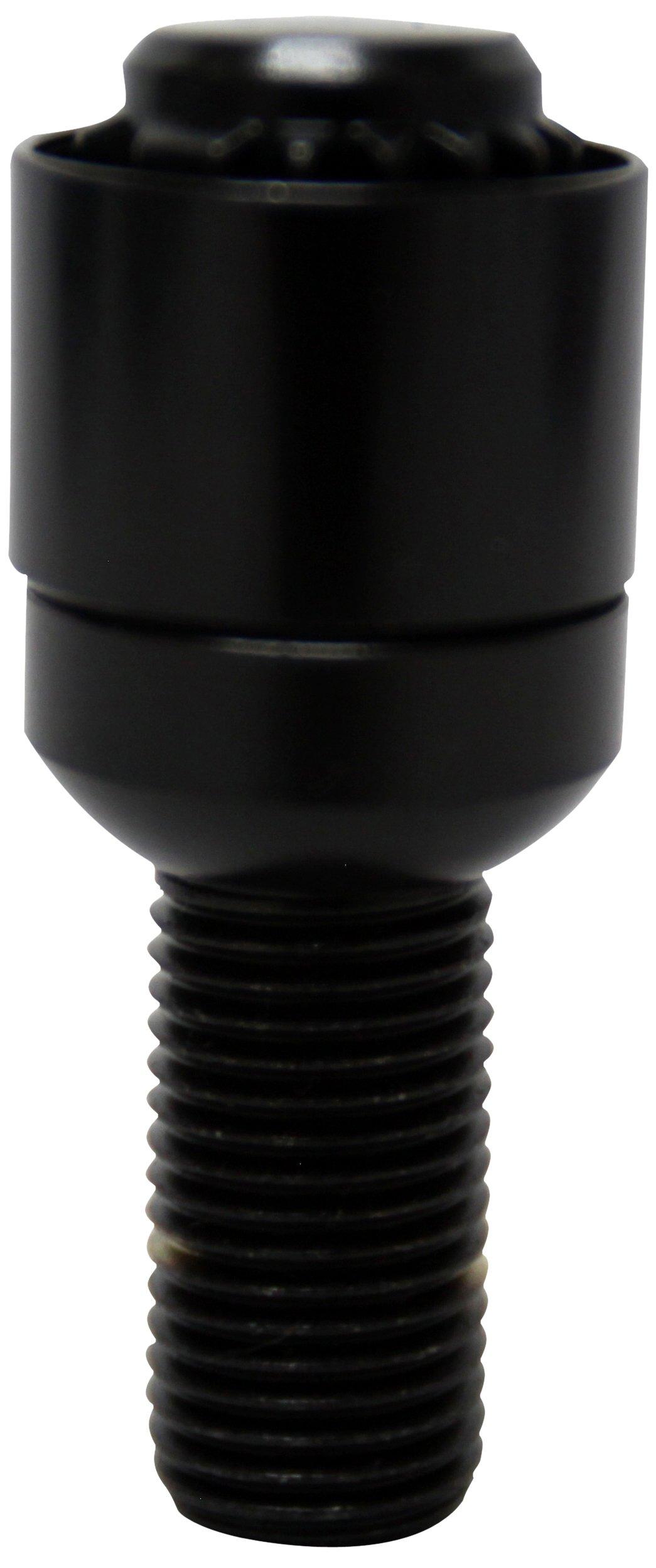 Kics WR630B40 Bull Lock Black 40mm (14mm x 1.5 Thread Size) RE Guard Lock Bolt Set