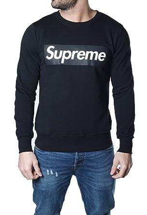 Supreme - Sudadera - para Hombre Negro Negro: Amazon.es: Ropa y accesorios