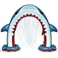 Anpro Giant Shark Sprinkler for Kids - Summer Inflatable Water Toys Outdoor Arch Sprinkler for Boys Girls, Outside Water Games for Kids Party