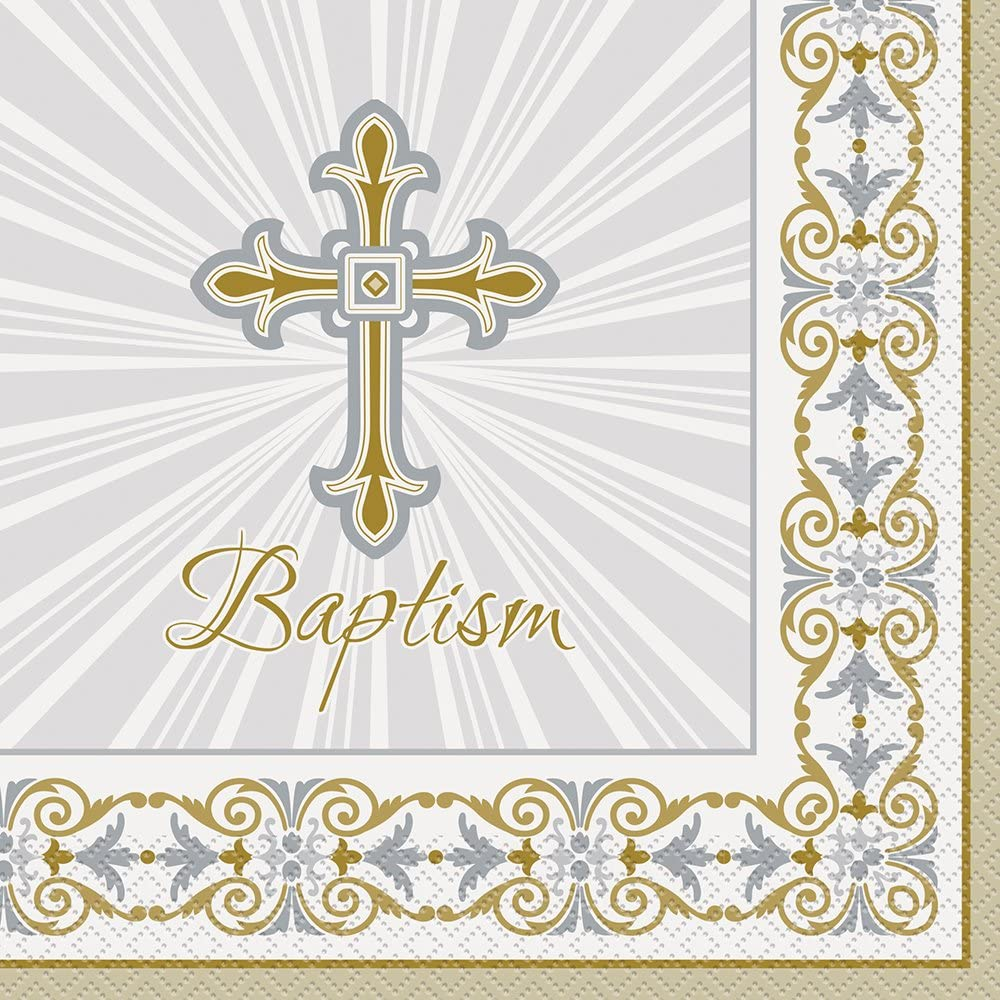 8ct Gold /& Silver Radiant Cross Religious Thank You Note Cards