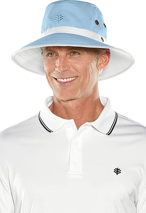 6db05e1bc97e5 Coolibar UPF 50+ Unisex Matchplay Golf Hat - Sun Protective (Small Medium-