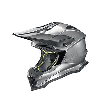 Casco para Moto, Modelo N53, Casco de Motocross, Cromo Rayado, Talla L
