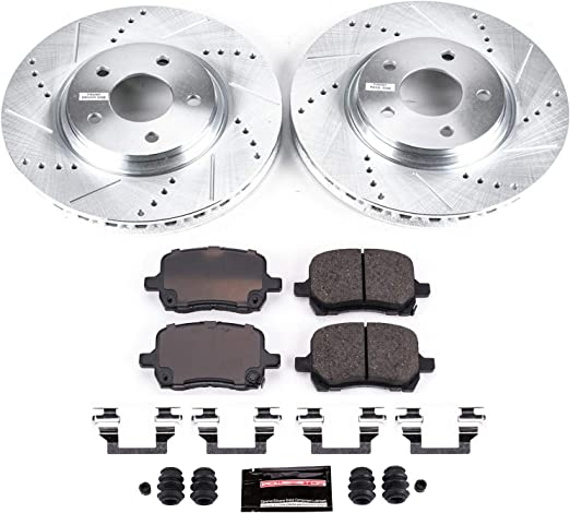 Stoptech 938.44563 Street Axle Pack Drilled /& Slotted Rear