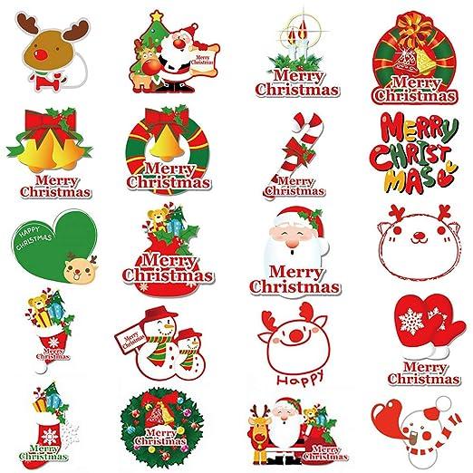 40pcs Pegatina Navidad Etiqueta Adhesiva Regalo Cumpleaños ...