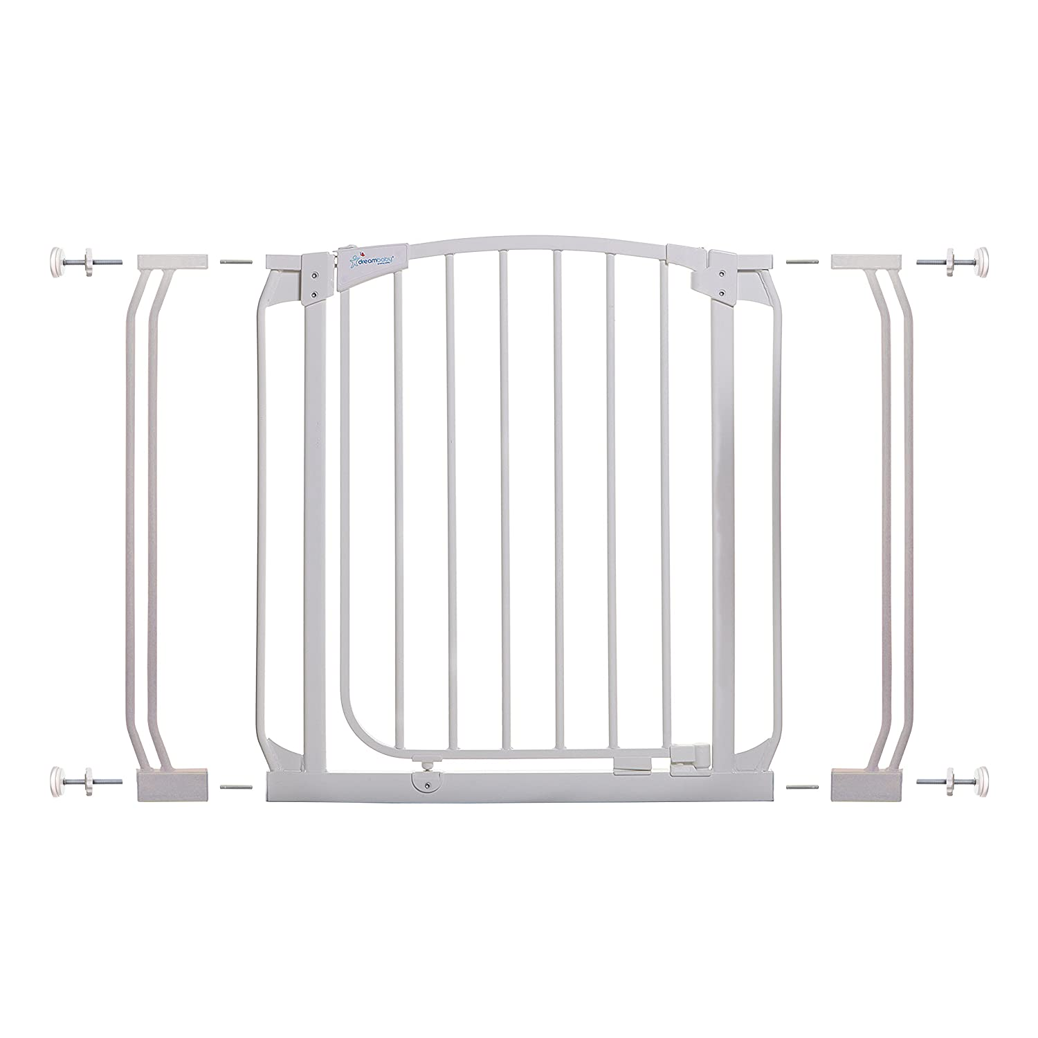 B000EIGJQ2 Dreambaby Chelsea Auto Close Security Gate in White with Extensions 71DViyMl%2BuL