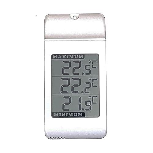 Digital Max Min wall Thermometer -Indoor Outdoor Garden Greenhouse Jumbo Display