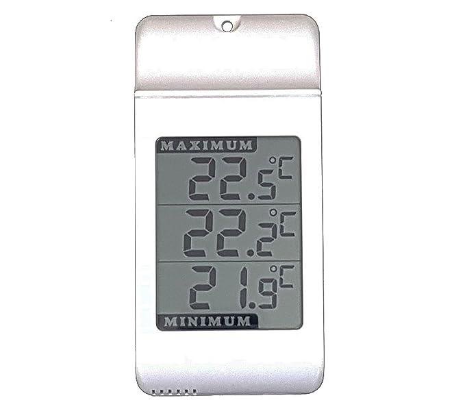 Digital Max Min termómetro al aire libre de interior jardín invernadero - Jumbo Celloexpress: Amazon.es: Jardín