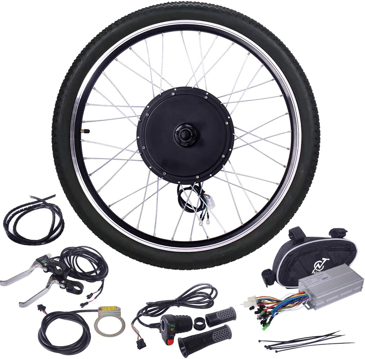 Jaxpety 48V 1000W Ebike Hub Motor Conversion Kit
