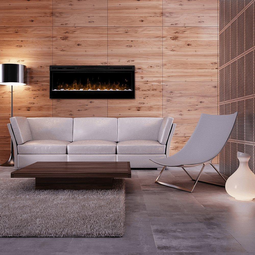 Dimplex Prism Wall Mount Linear Electric Fireplace Insert Black  # Dimplex Foyer Electrique