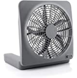 "O2COOL Treva NEW 10"" Battery Operated Fan with Adapter, Graphite"