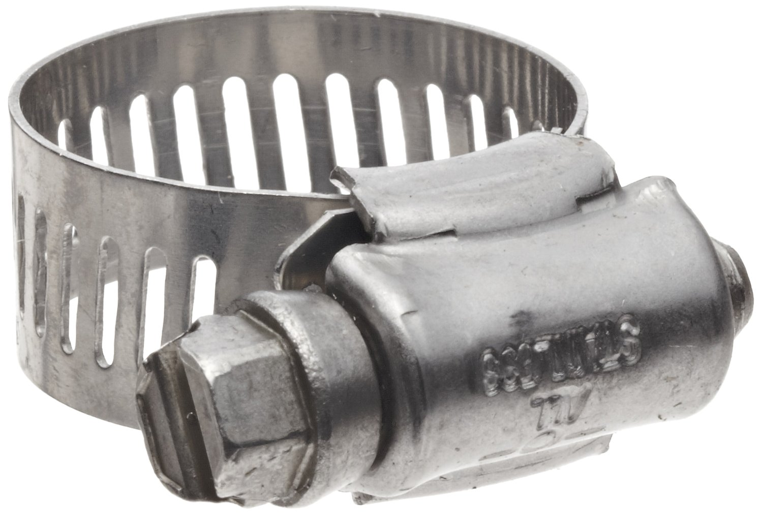 Precision Brand B8HS All Stainless Worm Gear Hose Clamp, 7/16' - 1' (Pack of 10) 7/16 - 1 (Pack of 10) Precision Brand Products Inc. 35160