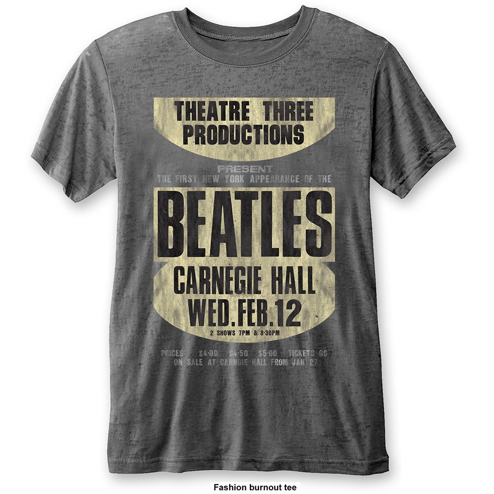 The Beatles Carnegie Hall' Burnout T-Shirt
