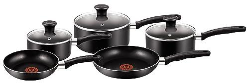 Tefal Essential Cookware Set - Black, 5 Pieces