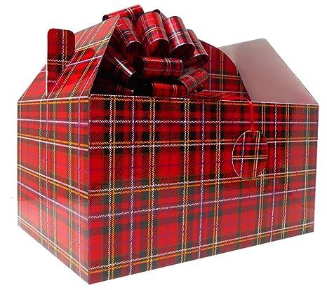 Gable caja regalo Hamper Kit (gigante) con lazos y tarjeta de regalo, papel
