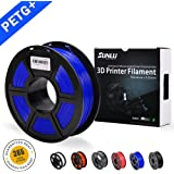 SUNLU PETG 3D filament 1.75mm 1KG(2.2lb), PETG 3D Printer Filament, Dimensional Accuracy +/- 0.02 mm, 1 kg Spool, 1.75 mm, Blue PETG