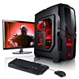 """Megaport Super Méga Pack - Unité centrale pc gamer complet • Ecran LED 22"""", Claviers de jeu et Souris, AMD 4x3.8Ghz • GeForce GTX750 • 8Go • 1To • Win7 ordinateur de bureau • pc gaming • pc pas cher"""