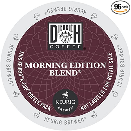 Diedrich Coffee K-Cup for Keurig Brewers, Medium Roast, Morning Edition Blend (Pack of 96)