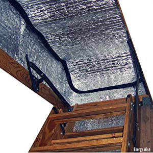 "Energy Wise Attic Stairway Cover - 25"" x 54"" x 11"" - R-Value of 14.5 - Attic Stairs Insulation Tent"