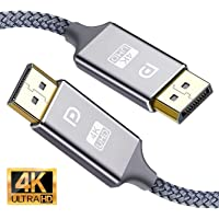 DisplayPort Cable 3M, Snowkids 4K Displayport to Displayport Cable(4K@60Hz, 1440p@144Hz) Nylon Braided High Speed DP Code, 4K Video Resolution Ready for TV Gaming Streaming PC Monitor,Laptop -1 Pack