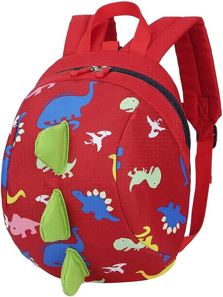 TEBAISE Kinder Rucksack Kleinkind Kinder Tasche f/ür Jungen M/ädchen mit Sicherheitsgurt Schultasche Netter Dinosaurier Rucksack Design f/ür Kinder Niedliche Tier-Kind-Rucksack Anti verlorene Tasche