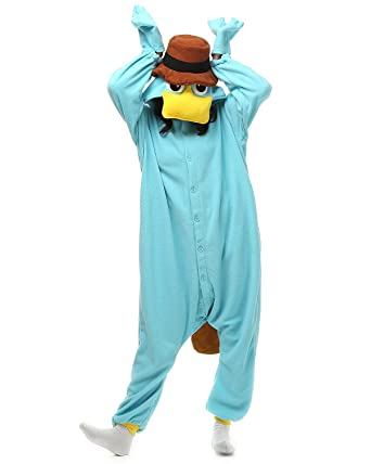 Adult Platypus Onesie Costume for Women Men Kigurumi Pajamas Animal Cosplay Partywear S