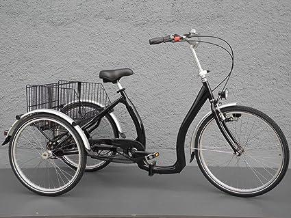 Triciclo Bicicleta plegable para – Tres – Rueda transporte Cuadro bajo contrapedal 5 G. Negro: Amazon.es: Deportes y aire libre