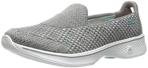 Skechers Damen Go Walk 4 Propel Slip on Sneaker, Grau