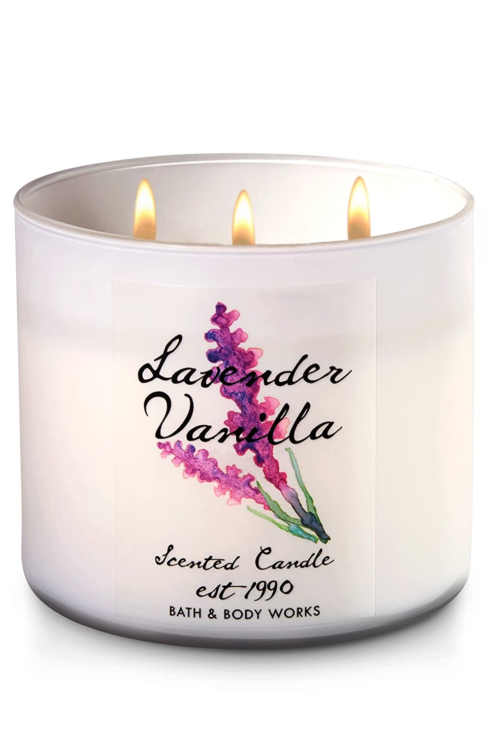 Bath & Body Works 3-Wick Scented Candle in Lavender Vanilla AX-AY-ABHI-116361