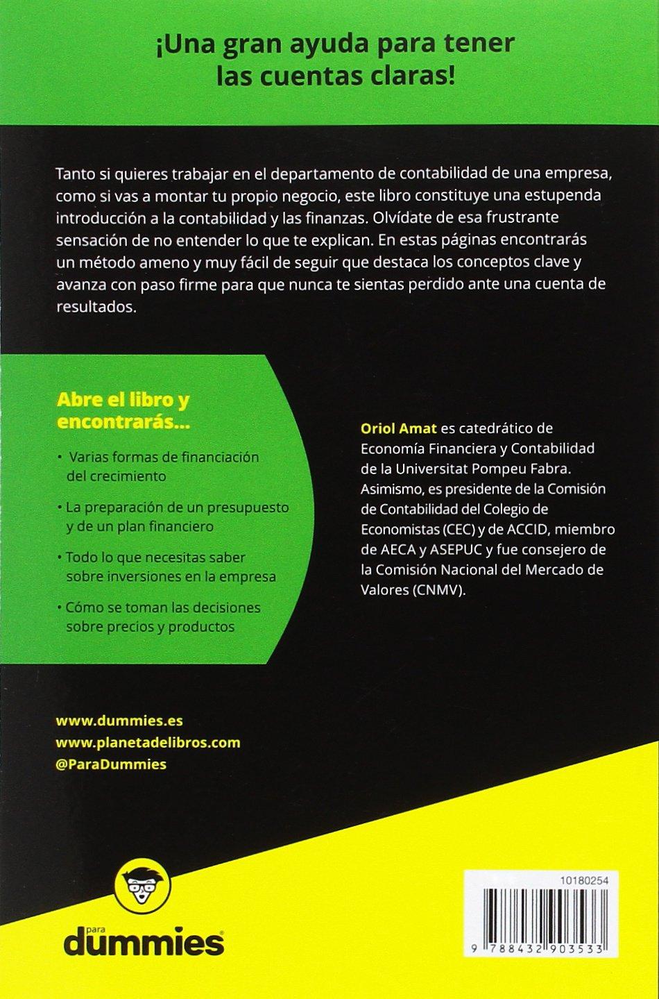 Contabilidad y finanzas para Dummies: Amazon.es: Oriol Amat: Libros