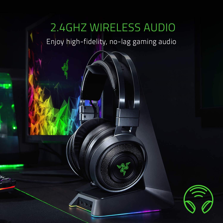 Razer Nari Ultimate Wireless 7 1 Surround Sound Gaming Headset: THX Spatial  Audio & Haptic Feedback - Auto-Adjust Headband & Swivel Cups - Chroma RGB