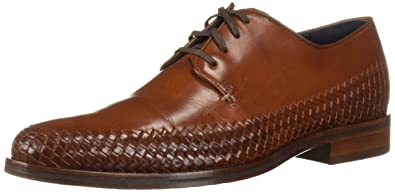 e787d3c5fced2 Cole Haan Mens Washington Grand Woven Plain Oxford British Tan Woven 8.5 D  - Medium