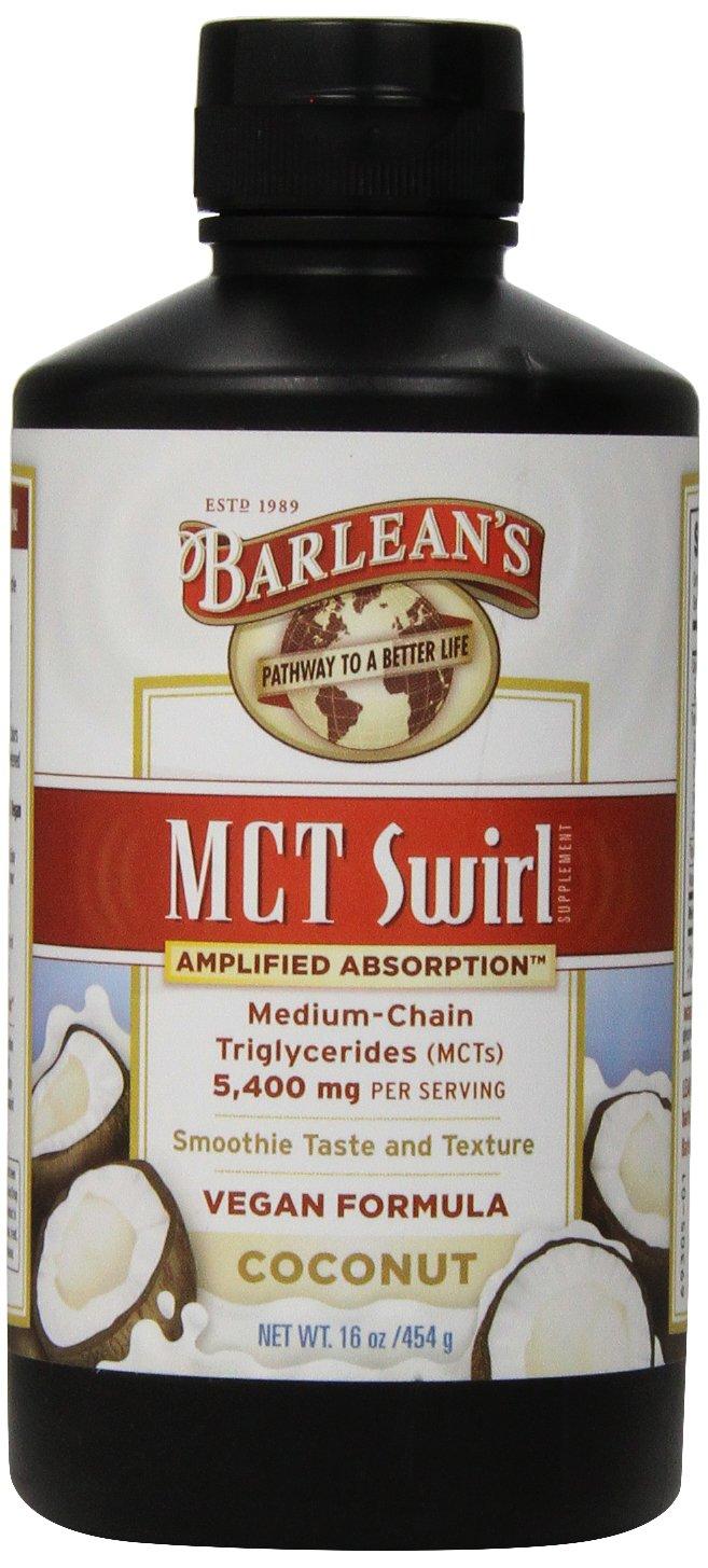 Barlean's Organic Oils, Coconut, 5400mg MCT Swirl, 16 Ounce