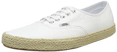 9b025bb4ac Vans Unisex-Erwachsene Authentic Espadrille Low-top, Weiß (Leather/True  White