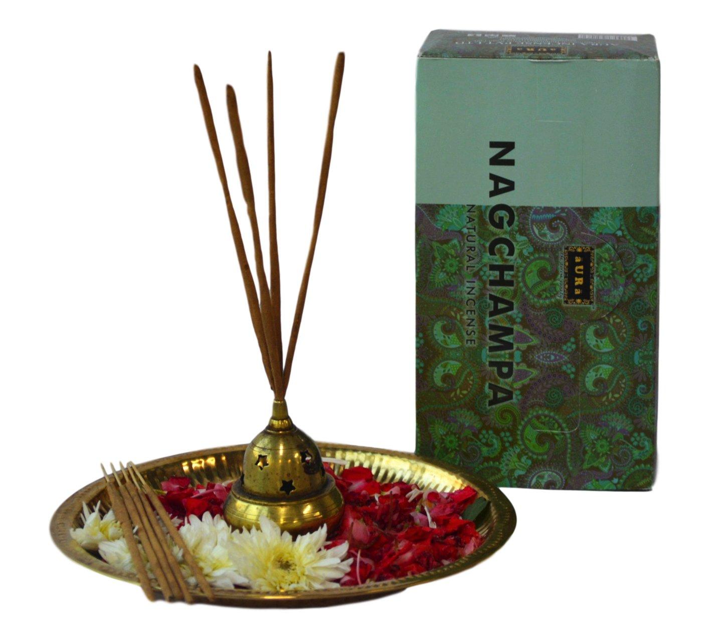 Aura Premium Aromatherapy Natural Incense Sticks, Nag Champa Masala Incense Sticks (12 x 15gms),VALUE PACK-120 sticks B071PD55CF