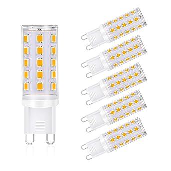 Reteck G9 bombillas LED sin parpadeo, 400 lm, equivalente a 40 W ...