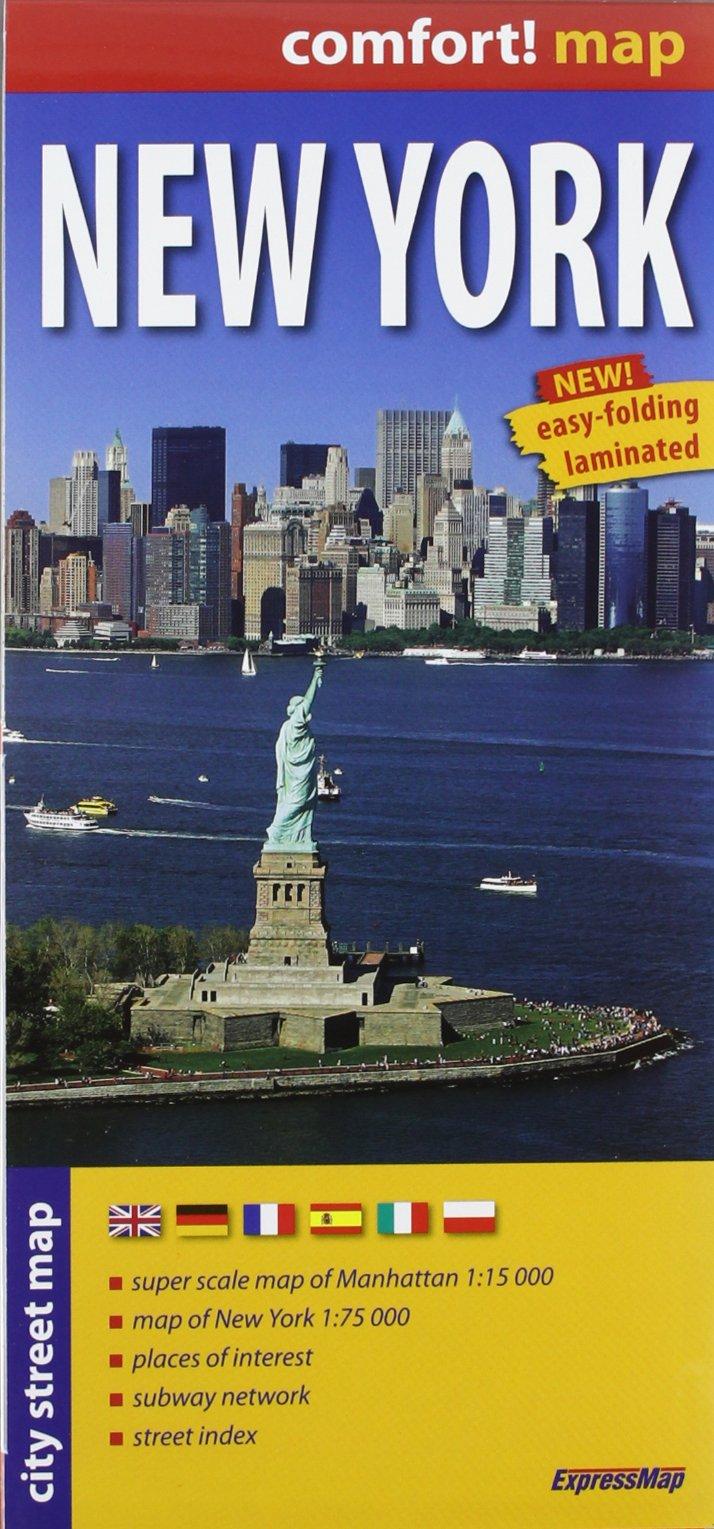 Nueva York, plano calejero plastificado. Escala 1:17.500. ExpressMap. (City Plans) (Alemán) Mapa – Mapa doblado, 15 jun 2012 VV.AA. Express Maps 8375462268 Gazetteers & Maps)