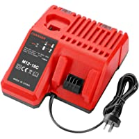 Lithium Battery Charger, Multi Voltage Charger for Milwaukee 12V~18V M12 M18 48-59-1812 48-11-1850 48-11-1840 48-11-1815…