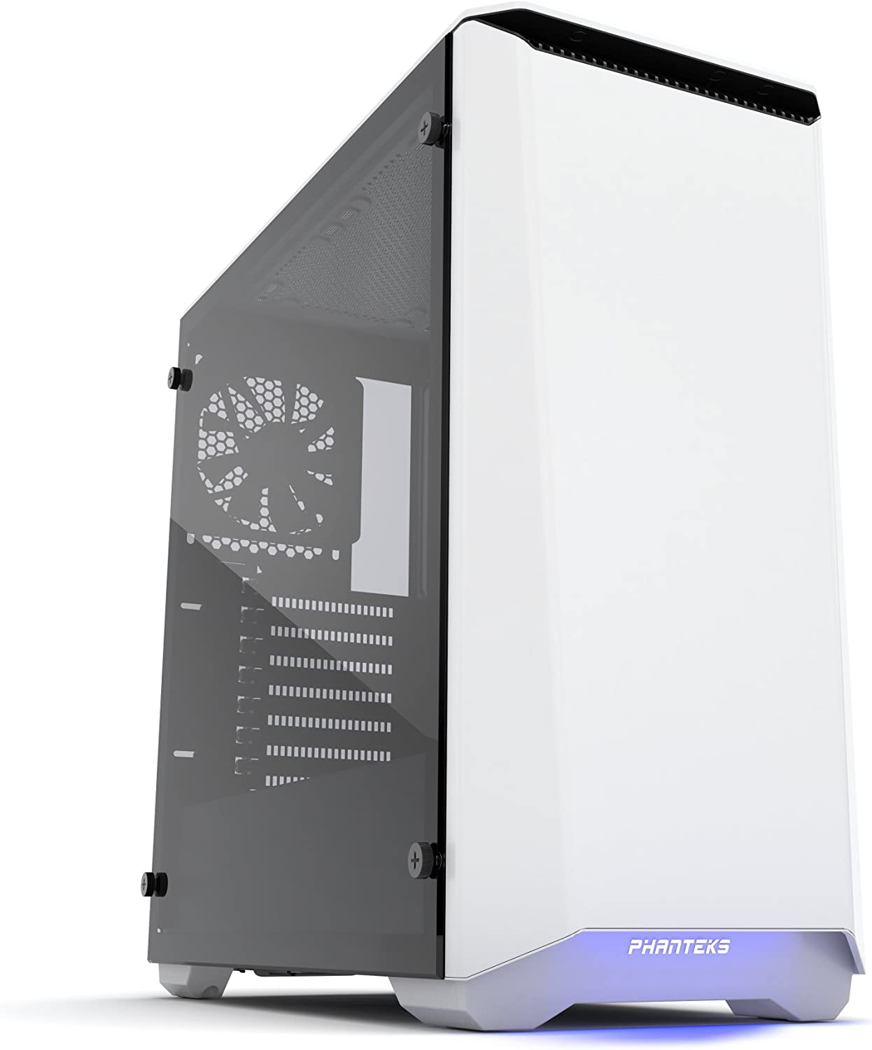 Phanteks PH-EC416PTG_WT Eclipse P400 Steel ATX Mid Tower Case Glacier White, Tempered Glass Edition Cases