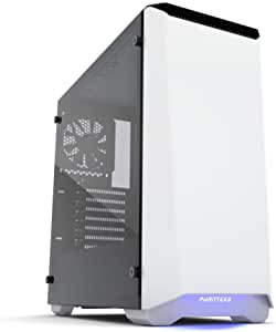 Phanteks PH-EC416PTG_WT Eclipse P400 Steel ATX Mid Tower Case Glacier White, Tempered Glass Edition Cases