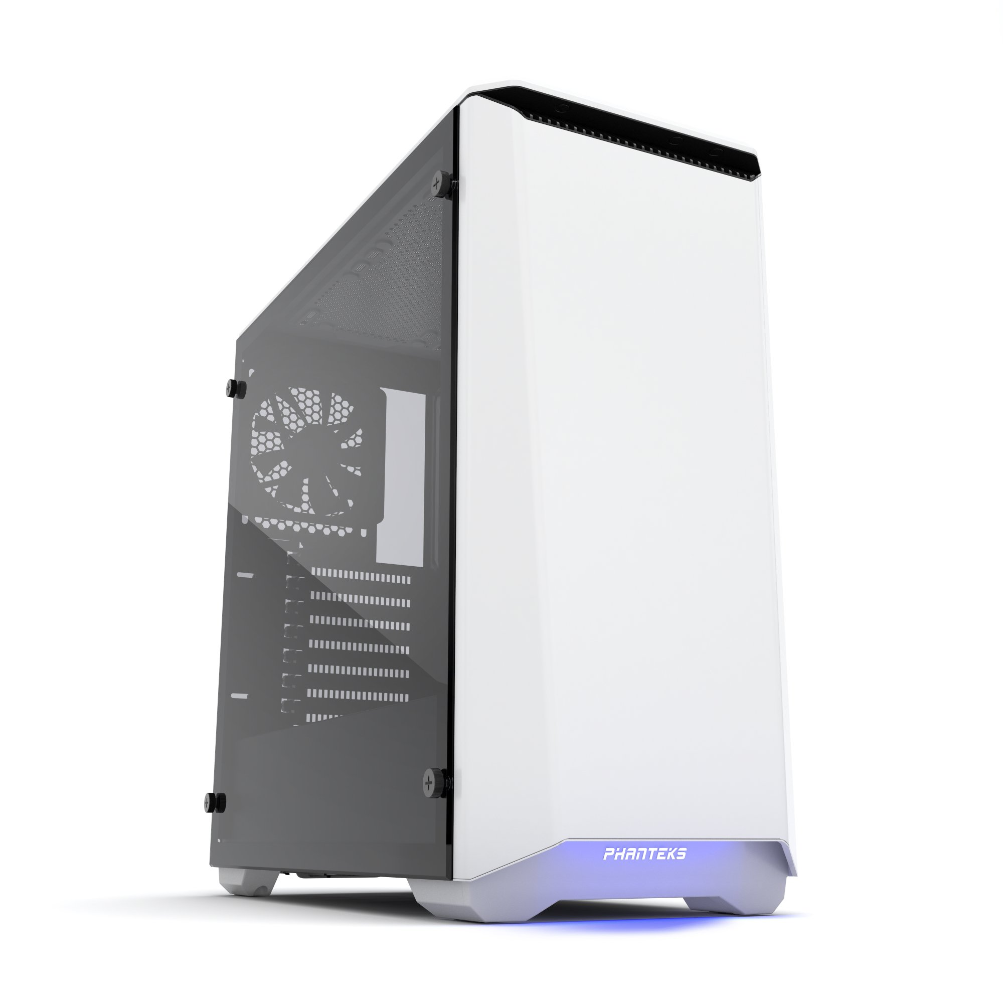 Phanteks PH-EC416PTG_WT Eclipse P400 Steel ATX Mid Tower Case Glacier White,Tempered Glass Edition Cases