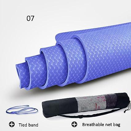 Amazon.com : Yoga mat 8mm Non-Slip Fitness Multi-Color ...