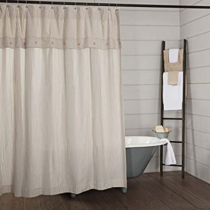 Amazon Piper Classics Farmhouse Ticking Stripe Shower Curtain