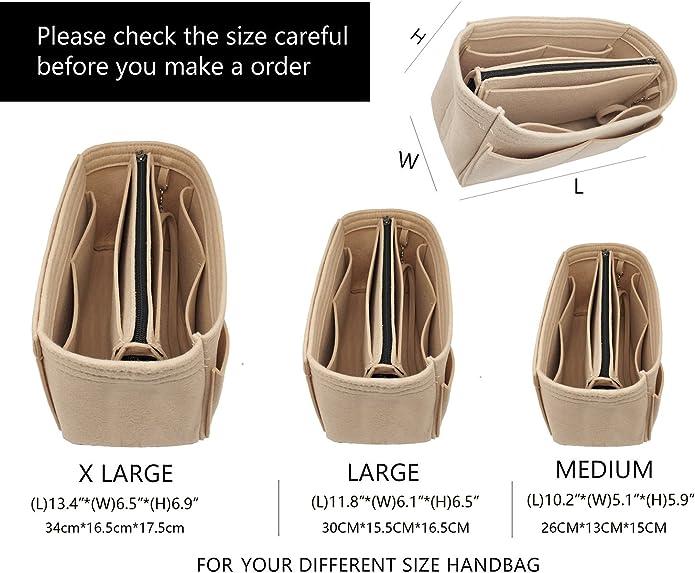 Amazon.com: Bolsa organizadora de fieltro con cremallera: Shoes