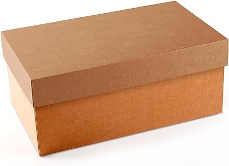 Caja de zapatos en color kraft de alta calidad perfecta para tiendas y para organizar tus zapatos en casa - M: Amazon.es: Hogar