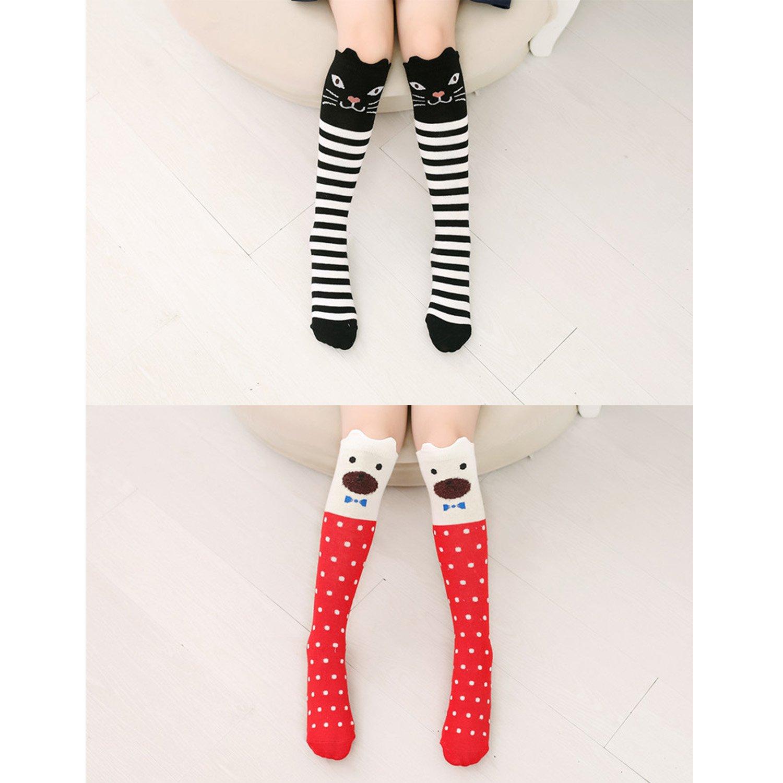 Mother & Kids Children Warmers Ankle Short Lovely Socks Cartoon Cute Kids Girl Knee High Socks Cute Cotton Baby Print Animal Over Knee Socks