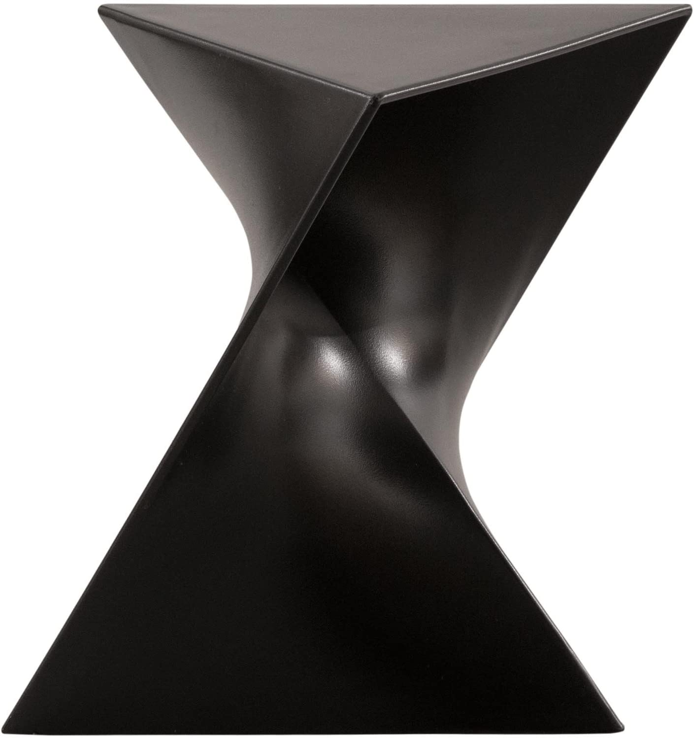 LeisureMod Randolph Modern Accent Side Table Indoor and Outdoor Use Black