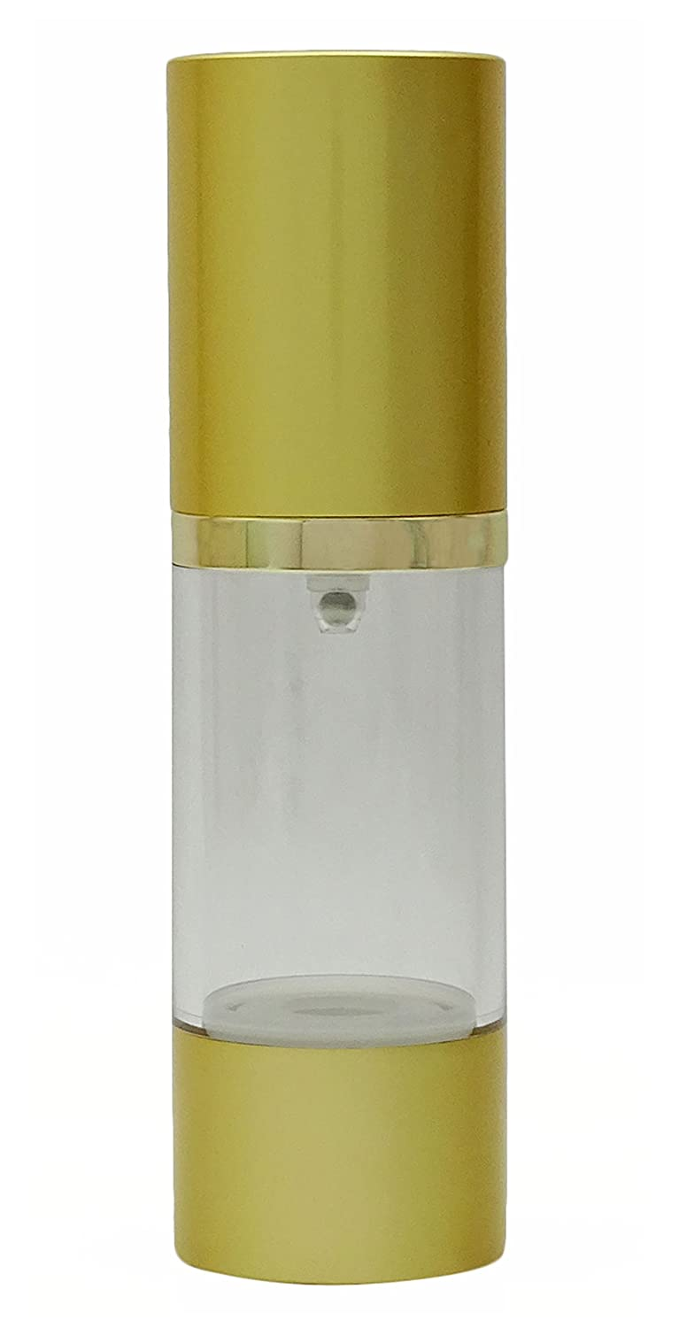 1 Pc Empty Clear Plastic Airless Bottles Wholesale Travel Golden Airless Pump Bottle Refillable Cosmetic Container Bottle 30 ml MT Bottles & Jars