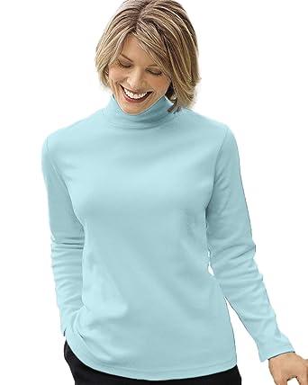 e0903c82bcd55 UltraSofts Mock Turtleneck at Amazon Women s Clothing store  Ladies Mock  Turtleneck Tops