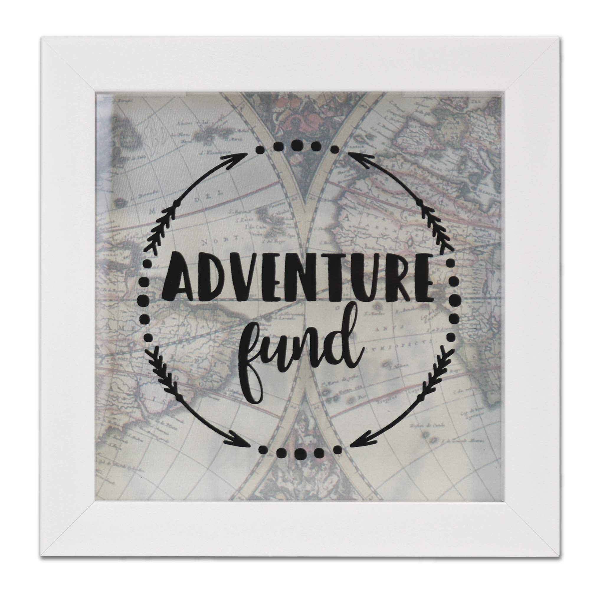 Lawrence Frames 8x8 Adventure Fund White Shadow Box Frame by Lawrence Frames
