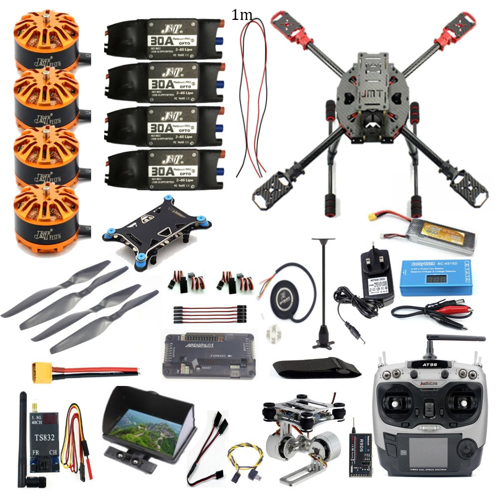 DIY Drone 2.4GHz 4-Axis Carbon Fiber Frame Quadcopter AT9S TX APM2.8 M7N GPS 700kv Motor FPV Full Set Aircraft No Camera